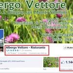 Pagina Facebook Cliente Albergo Vettore