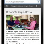 Rifugio Giglio Rosso di Rubbiano di Montefortino - Iphone